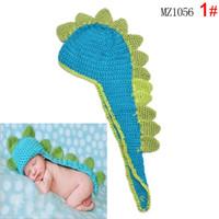 baby crochet animal hat patterns - 2016 Hot Good Quality Crochet Dinosaur Pattern Baby Boy s Hats for Newborn Months Photography Props
