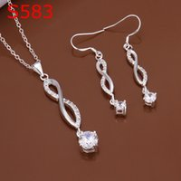 Wholesale lowest pric Necklace Earring set S583