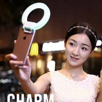 Wholesale Charm Eyes Ring Flash Selfie LED Light for iPhone s Plus for Casio EXILIM EX TR600 Smartphone Mobile Phone