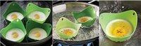Wholesale Egg holder Silicone Egg Poachers Eggs poacher Poach Pod food grade