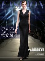 annuals flowers pictures - High end women s wear evening dress Black lace annual celebration dress