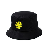 baseball face protection - 1 Color smile face Bucket hats Buckets caps Bucket Hats Baseball Caps Cap Snap Back Snapbacks Hat High Quality Mixed Order F251