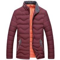 Wholesale Fall New Winter Warm Men s Down Jackets Breathable Coat Windproof Veste Men Cotton Padded Outwear Softshell Bomber Jacket UMA273