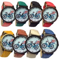 bicycle watches - I WANT TO RIDE MY BICYCLE Leather Strap Watch Women Mens Watches Kids Bronze Dress Quartz Wristwatch Christmas Gift