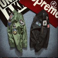 animal flights - Flight Pilot Jacket Coat Bomber Ma1 Men Bomber Jackets Nasa Air Force Embroidery Baseball Military Coats S XXL