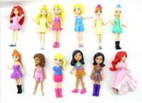 Wholesale Hot sale New set Mixed pattern random Cute Polly Pockets Girl Doll Toy Figures For Best Gifts low price