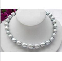 Wholesale BEAUTIFUL quot AAA MM TAHITIAN NATURAL GRAY PEARL NECKLACE K YELLOW CLASP