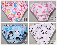 Cheap 2016 Children Flamingo Mermaid INS Swim Trunks Baby Girls Boys Fox Lemon Sports Swim Pool Hat Print Swim Pants 20color choose fre