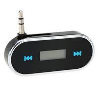 Wholesale FM Transmitter Radio Adapter Handsfree for Car LCD mm Audio jack black