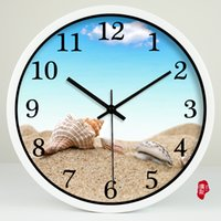 beach wall clocks - Seascape beach conch modern Home Furnishing decorative clock quartz clock room wall clock clock