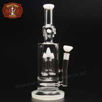 big happy face - Happy Face Glass Bongs White Durable Big Beaker Inch Height Thick Glass Bongs Water Pipes with Percolator for Adult XD