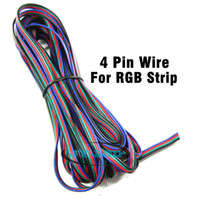 Wholesale m pin RGB Cable awg extension wired wire For LED RGB Strip PVC insulated wires Tinned copper electric cable