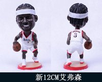 allen iverson team - Miniverse America Basketball Team Sixers Allen Iverson Doll White Action Cartoon Series Resin Collection Gift