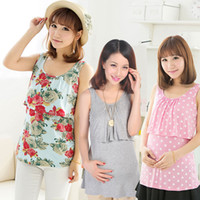 Wholesale Hot Sales Breast Feeding Maternity Tops Sleeveless Breastfeeding Shirt Nursing Tee Gravida Pregnancy Clothes for Pregnant Women RD0060
