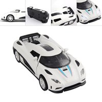 Wholesale 2016 SCF High Quality Sports Car Alloy Static Die Cast Model Car Sound Light Toy Cars Christmas Gift