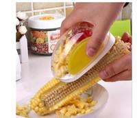 Wholesale Remover separator corn cob corn stripper Corn machine tools Kitchen Cooking Corn Peeler Stripper Shaver Knife Kernels Cob Remover Cutter