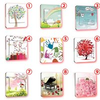 Wholesale 5 PiecesWall Stickers Switch Cover Light Switch Decor Art Mural Nursery Room Home Decal switch Not Included