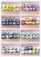 Wholesale 18mm Cartoon NOOSA Interchangeable Glass Snap Buttons DIY Jewelry Accessory Ginger Snap Jewelry Mix styles Round styles mix