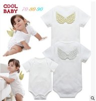 angels onesie - Angel baby Jumpers New Summer angel wings White Girls Romper Cotton Cute climbing clothes girl princess dress Infant onesie