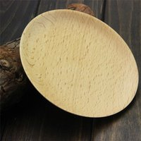 Wholesale High Quality Aoosy Whole Wood Hollowed out Simple Circular solid Fir Deep Plate Dish of Fruit