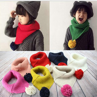 baby worm - single ball scarf children winter baby neck worm scarves boy girl knitted Scarf Collar For Years Baby colors