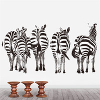 Removable b posters - 50pcs zebra horse wall stickers living bedroom decoration ZY8389 A B C diy vinyl animals adesivo de paredes home decals art posters paper