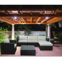 Wholesale Hot sales Outdoor Patio Garden PE Wicker Rattan Sofa Sectional Furniture Set with Cushions rattan Wicker Furniture Set Outdoor PE Wicker