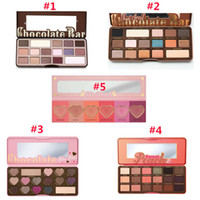 Wholesale 2016 NEW arrival HOT Makeup Chocolate Bar Eyeshadow palette semi sweet bonbons sweet peach Color Eye Shadow palette free dhl