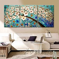 Cheap Oil Painting 3 Panel 3 Piece Canvas Cuadros decoracion Wall Art Picture Modern Abstract Home Decor Living Room Set Palette Knife
