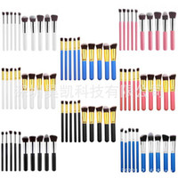 Wholesale DHL Free Kabuki Style Professional Makeup Brushes Tools Sets Make Up Brushes Full Cosmetic Brush Eyeshadow Lip Face Powder Brush