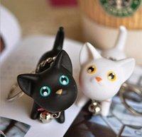 Пользовательские LOGO Принято Мяу Котенок кукла брелок Cat брелоков Белл игрушки пара Lover кольца для ключей цепочка для сумки милый подарок
