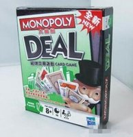 Wholesale LLA75 Child Monopoly Deal Travel Car Party Poker Card Board Game Dealing Card Game Deal Card