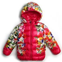 Wholesale Fashion Double Sides Print Flowers Girls Ski Jacket Outdoor High Quality Feather Filled Snowboard Jacket for Girls