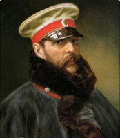 One Panel alexander oil - Tsar Alexander II Portrait Genuine Handpainted Portrait Art Oil Painting On High Quality Canvas in customized size accepted