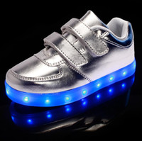 Wholesale Fashion Children LED light Shoes Kids Sneakers Fashion USB Charging Luminous Lighted Boy Girl Sports Shoes chaussure LED enfant Colors