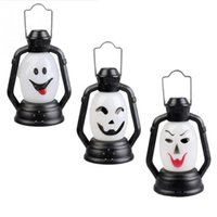 Wholesale Colorful Flash Witch Pumpkin Ghost Smile Night Lights Hand Light Lamp for Halloween Decoration Party Gift