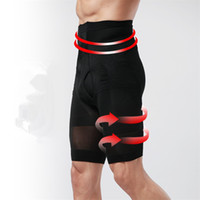 Wholesale Compression pants for mens slimming body shaper stomach training massage high waist trimmer underpants butt lifting black