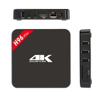 Wholesale H96 Plus TV BOX GB GB Amlogic S905 Quad Core bits M LAN Bluetooth KODI Pre installed HEVC Ultra K HD P Media