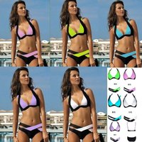 Wholesale swimwear for women new color black and white color split bikinis ladies swimwear cross straps sexy piece bikini bikinis set swimsuit