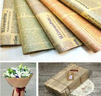 Wholesale 20pcs Gift Wrap For Christmas Holiday Wrapping Paper Holiday Gift Vintage Packing New x37cm