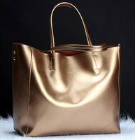 bag of silver - 2016 new imported leather bag ladies leather bag shoulder bag handbag bag a on behalf of foreign trade