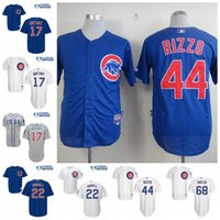 Wholesale Cheap Men s Chicago Cubs Jerseys Kris Bryant Anthony Rizzo Addison Russell Baseball Jersey Embroidery Logos fashions