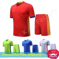 Wholesale Game football clothes Blank brand training suits men short sleeve sport shirt suit breathable quick drying sports shirts