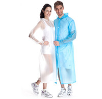 Wholesale Emergency Raincoat Camping Adult Girls Unisex Transparent Boys Waterproof Raincoats Women Fashion Candy EVA Breathe Rain Coat Rainwear