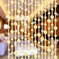 Wholesale 17 Color Meter Fashion Home Wedding Party Decoration Arylic Glass Crystal Beads Garland Rope Curtain Hanging Screen Built in
