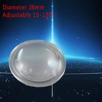 Wholesale semi circle Plano convex LED Lenses mm Optic Lens Grade PMMA For Lens Reflector A variety of sizes are selected