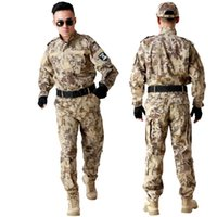 Wholesale New style Tactical Combat Uniform Camouflage Hunting Suit Wargame Paintball Uniform Multicam Army tactical jacket set Uniforms