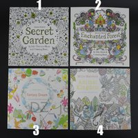 Wholesale 4Styles Secret Garden Fantasy Dream Animal Kingdom Enchanted Forest Coloring Book with Papers Children Relax Graffiti Painting Books