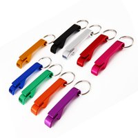 Wholesale 500pcs Portable Aluminum Alloy Stainless Steel Beer Bottle Opener with KeyChain in Party Gift Multifunction Bar Tool