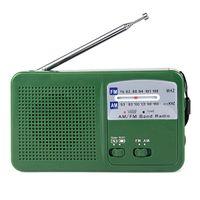 battery powered generators - Dynamo Generator FM AM Radio Solar Crank Power Flashlight Emergency Charger Y4346G